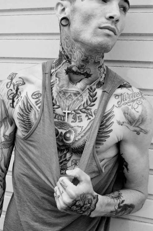 Mens Chest Tattoos