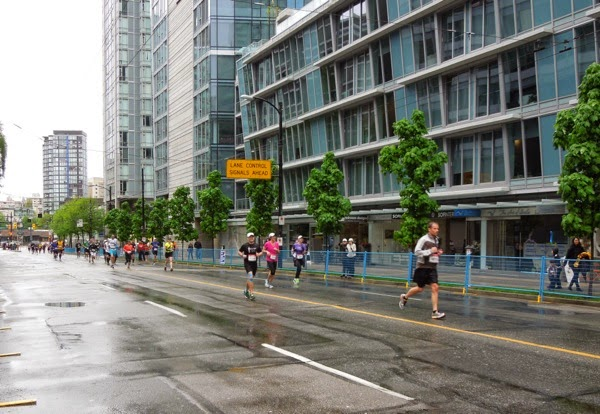 Final stretch Vancouver Marathon 2014