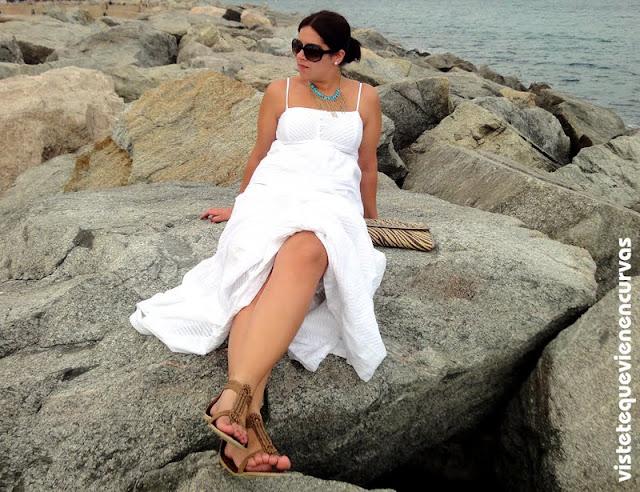 MAXI WHITE DRESS... un vestido y dos looks...