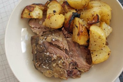 Slow-Cooked Leg of Lamb with Garlic, Lemon, and Rosemary