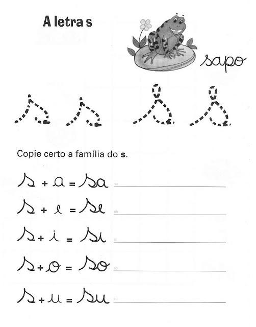Atividades de Alfabetização coma letra S
