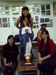 Con nuestra Inmaculada ya policromada