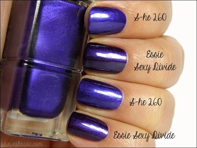 Essie Sexy Divide VS S-he Stylezone 260