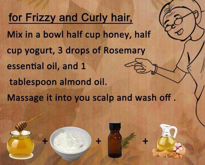 Fizzy and Curly hair home remedy