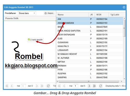 Contoh Cara Pengisian Rombel Dapodik 2013