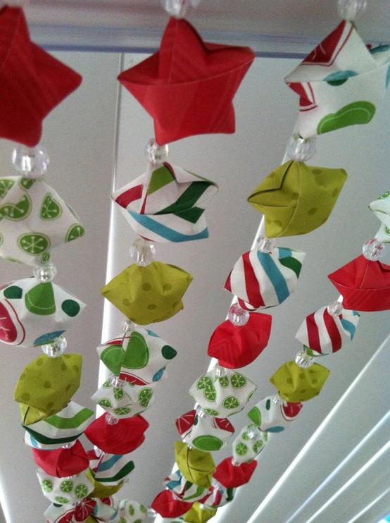 Origami Decoracion Navidad ~ por supuesto como simple decoraci?n de la casa, utilizando papel de