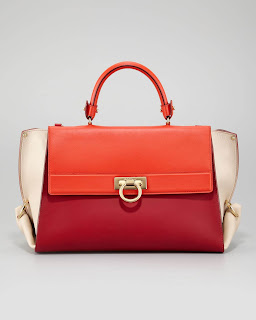 SOFIA COLORBLOCK FLAP SATCHEL BAG