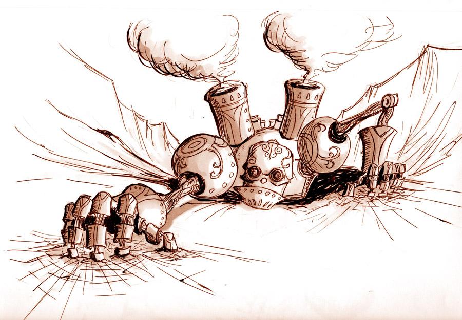 Robot Concept Drawings Robot Concept Sketch