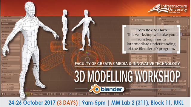 ONLINE REGISTRATION FOR 3D MODELLING WORKSHOP WITH BLENDER