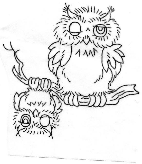 Riscos para pintar corujas!