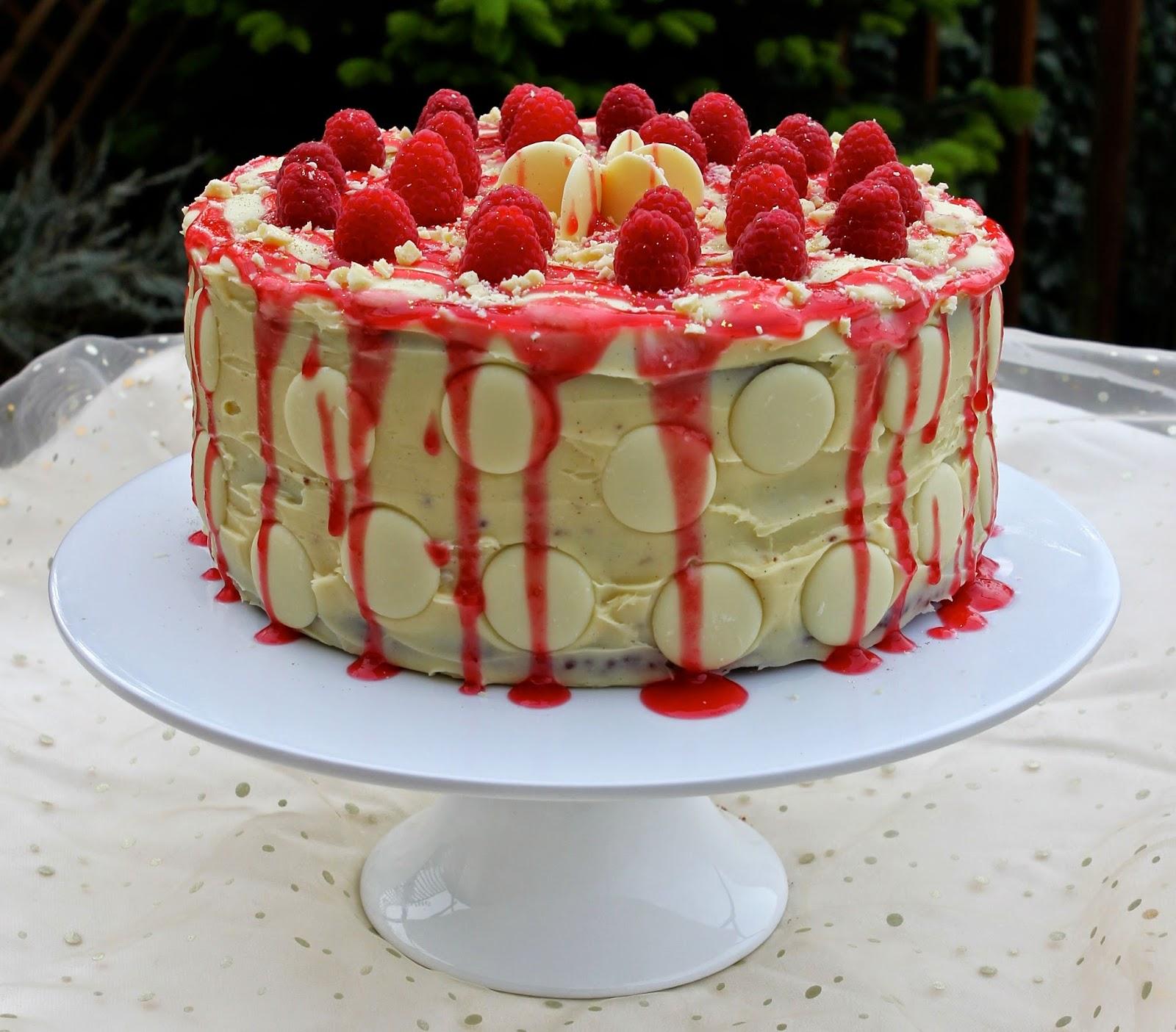 Gluten Free Alchemist Layered Dark White Chocolate Raspberry Cake