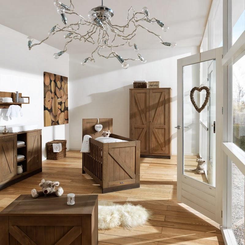 Dormitorio de bebé marrón y blanco  Dormitorios colores y estilos