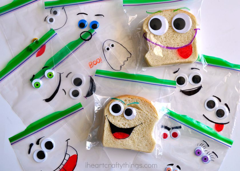 Diy Back To School Silly Face Sandwich Bags I Heart Crafty Things