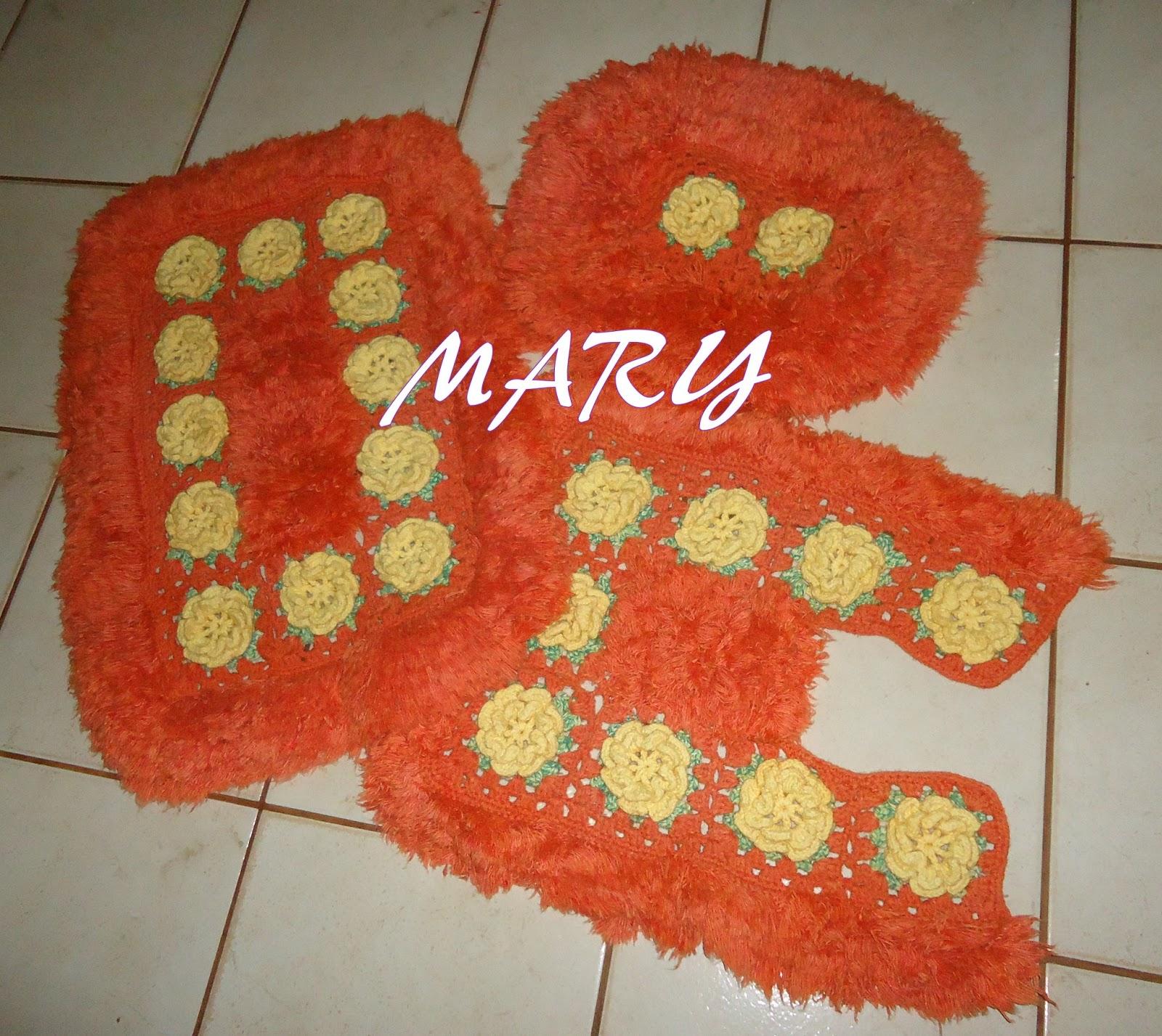 cantinho do artesanato: Jogo de Banheiro em Barbante Croche Argola com  #953318 1600 1427