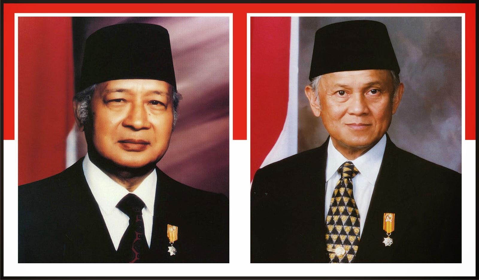 Soeharto dan Bacharuddin Jusuf Habibie
