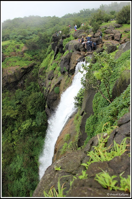 Madhe ghat waterfall from Top