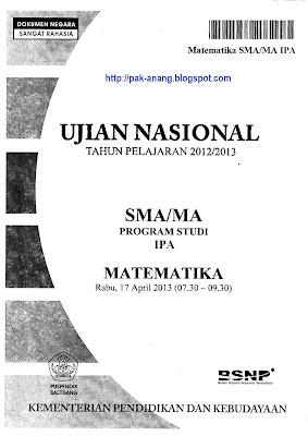 Soal Un Matematika Ips 2013 Latihan Soal Un 2014 Sma