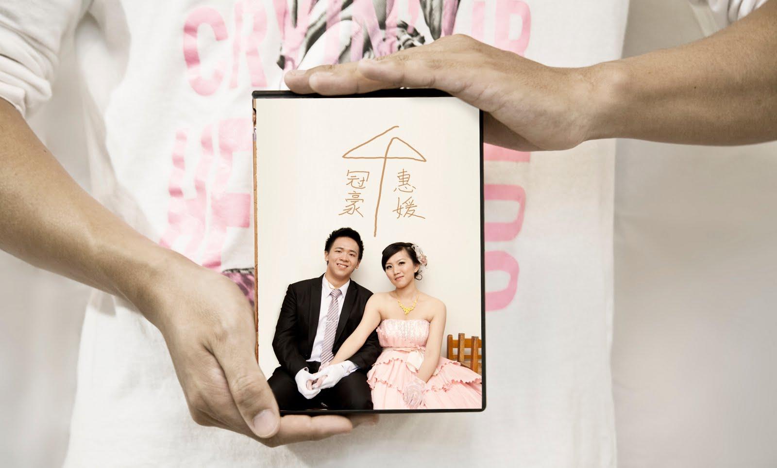 Showcase作品展示 | 冠豪×惠媛婚攝DVD封面設計 by MUMULab.com