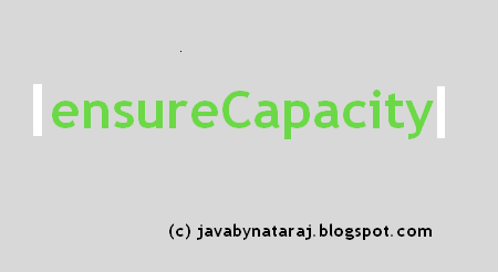 When to use ensureCapacity method in java_javabynataraj