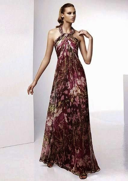 vestido de festa longo estampado frente única - dicas e modelos