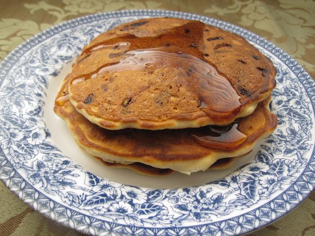 Chocolate Chip Banana Pecan Pancakes