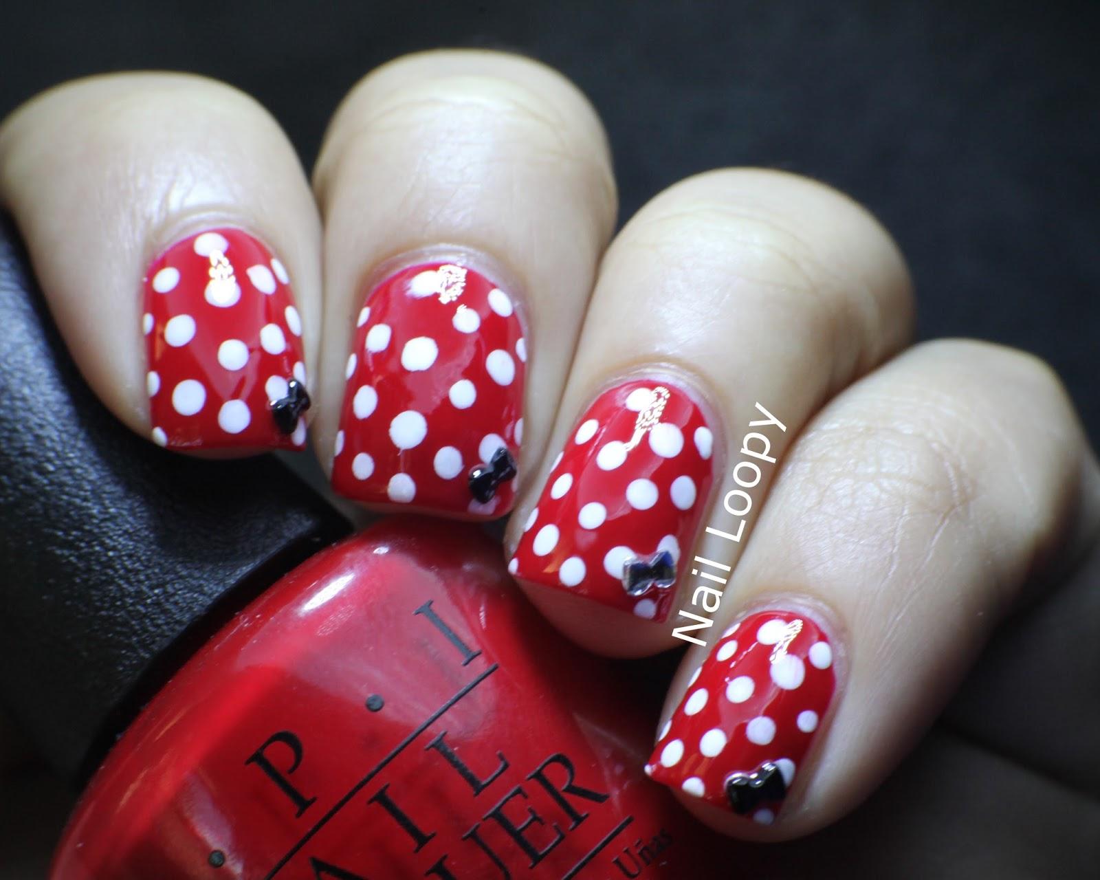 Minnie Mouse Bow Nail Art nail loopy: MINNIE MOU...