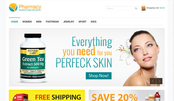 Pharmacy Responsive Magento Theme
