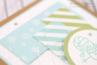 stampinup schneemannkarte, prägeform schnee, Schneemannkarte, stampinup herbstworkshop, stempel-biene, match the sketch