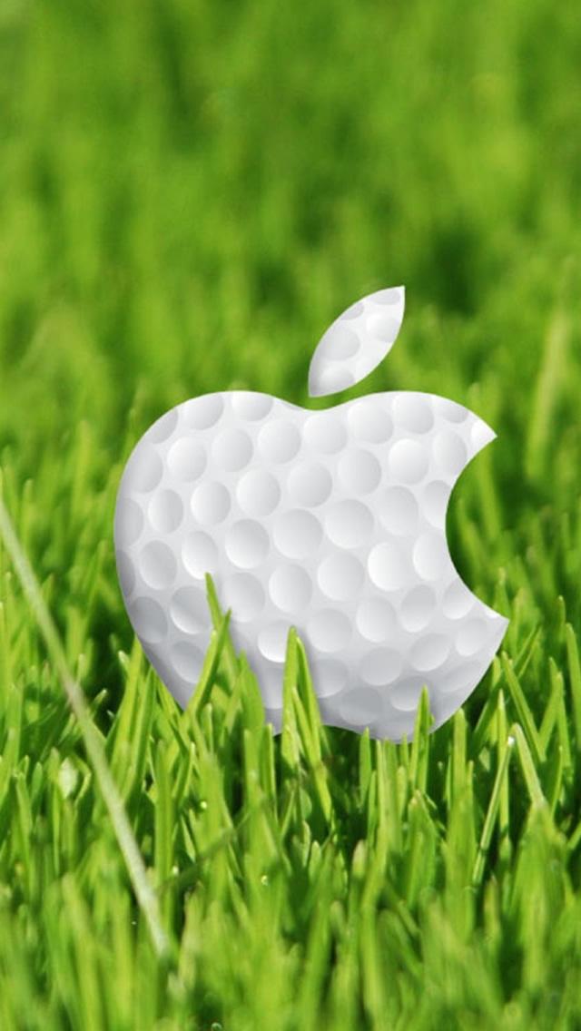 ゴルフボールなアップルロゴマーク