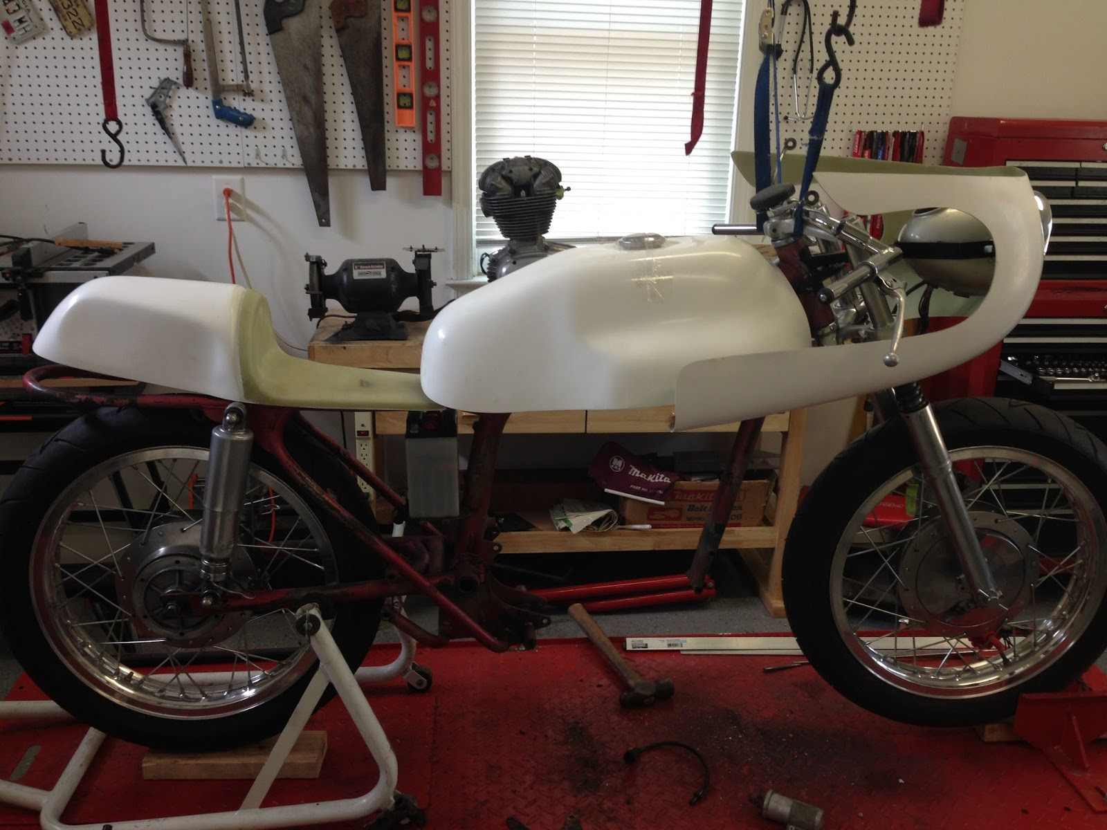 1966 Ducati Monza 250 Supersport Conversion Wiring Diagram Once I Had All The Brackets Figured Out Sent Body Work Off To Get Painted Did Some Research On Original Paint Colors For Imola Bikes