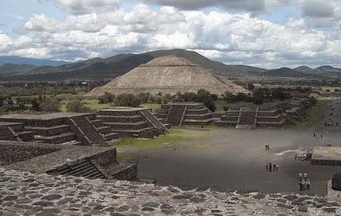 Paramide de Teotihuacán, en México