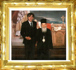 Његова светост патријарх српски Павле и моја маленкост, новембар 2003. г. Патријаршија у Београду.