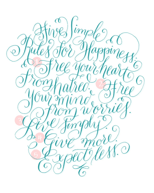 Calligraphy, Rules of Life, Graphic Design Calligraphy Inspiration, Script font Inspiration