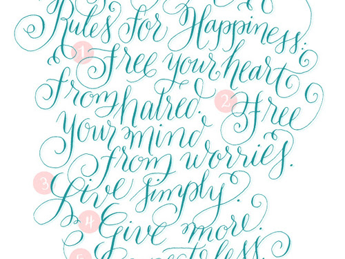 Monday Inspiration: Rules and Calligraphy
