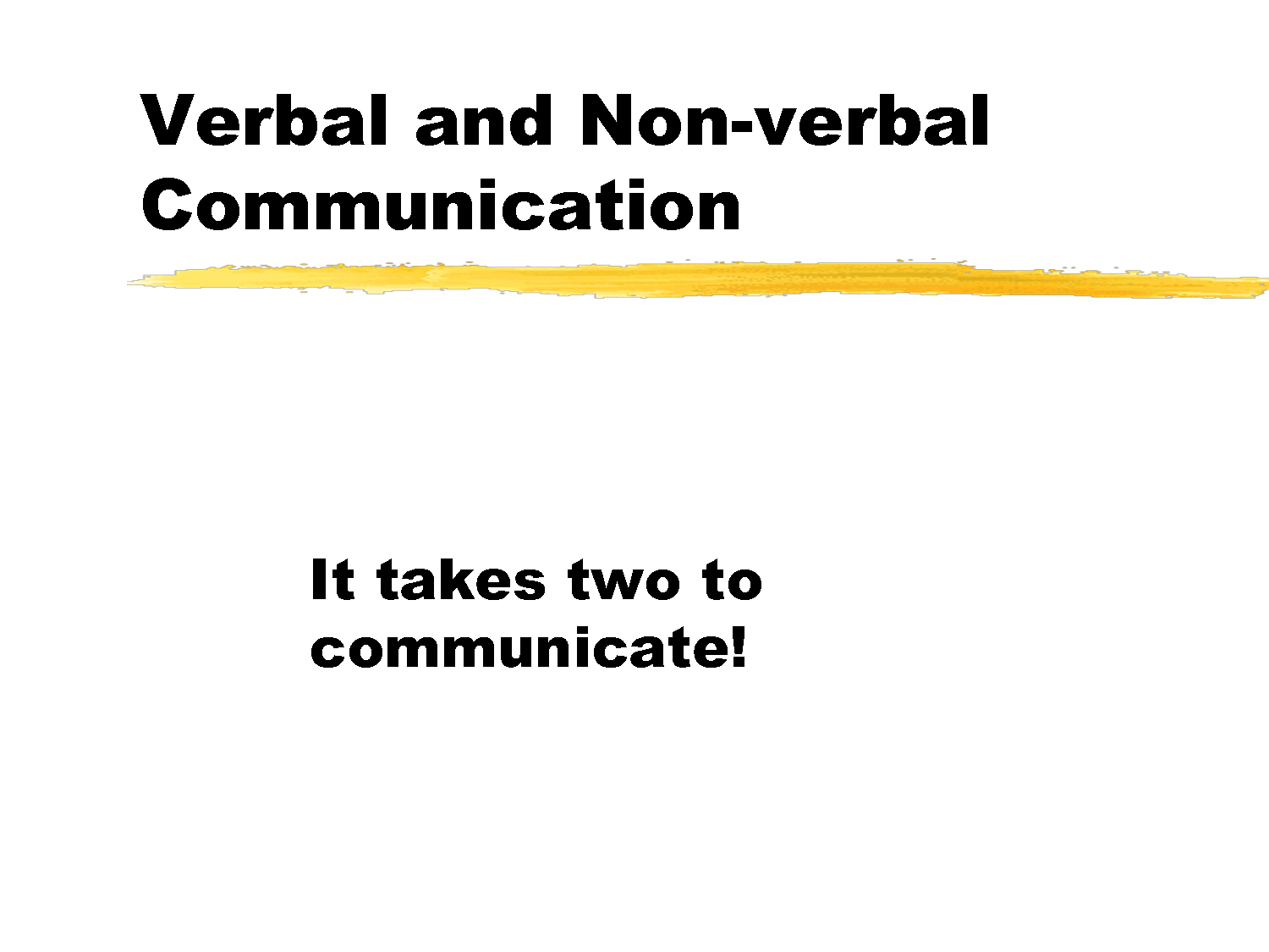personal communication ethics statement about verbal and nonverbal communication