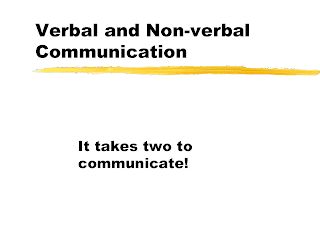 describe the principles of verbal and nonverbal communication