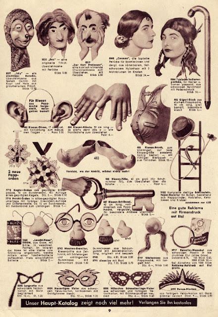 9 of Karneval  katalog from 1955 - Einzinger & Co. Munchen - masks, disguises