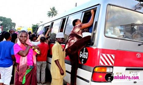 susahnya mencari angkutan di Tanzania