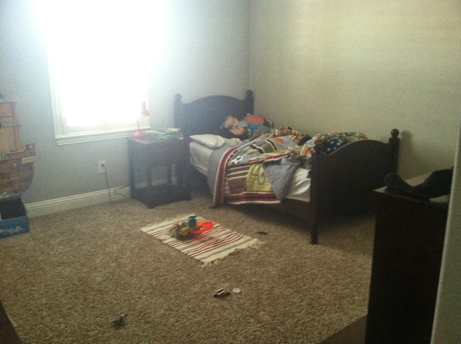 Just Furniture And Messy Toys All Over Typical Of A Boys Room