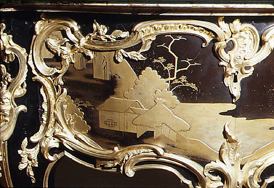 Bernard II van Risamburgh, Side Table (commode en console), 1755–60