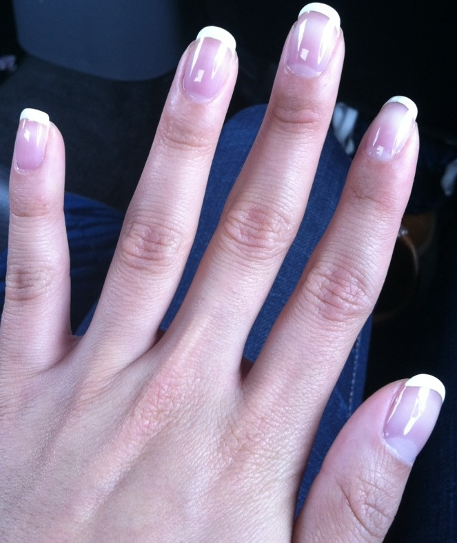 French Shellac Manicure