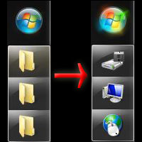 Dynamic Windows Explorer Taskbar Icons