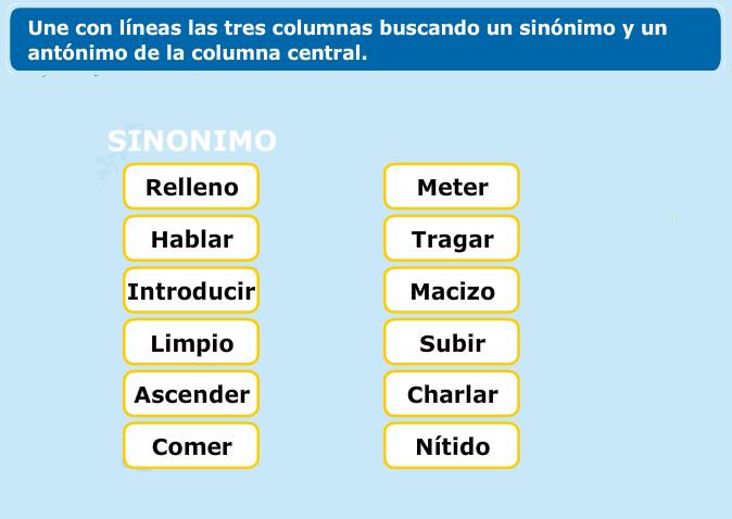 http://www.primerodecarlos.com/TERCERO_PRIMARIA/octubre/Unidad3/actividades/lengua/SINONIMOS_ANTONIMOS.swf