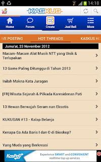 Aplikasi Kaskus Android
