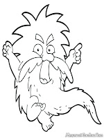 Mewarnai Gambar Old Troll Sipembuat- Teka-Teki