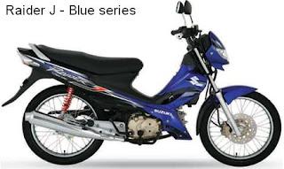 Suzuki Raider J blue color