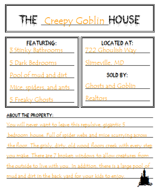 Adjectives Describing a Haunted House