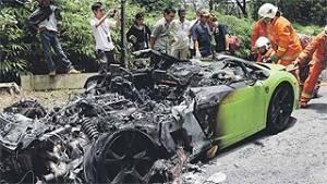 Lamborghini terbakar