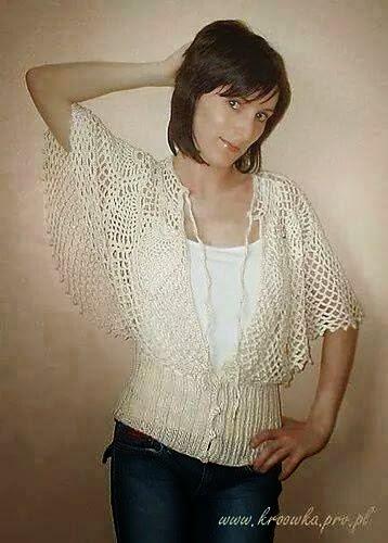 Blusa al crochet con diseño circular