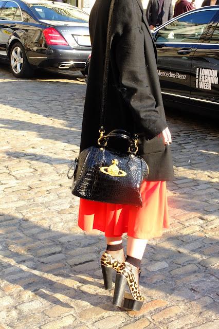 lfw orange skirt spring trend